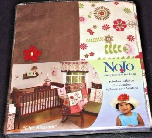 Nojo CHIC BLOSSOM Floral  Window Valance Flower Garden Pink Red Brown NEW