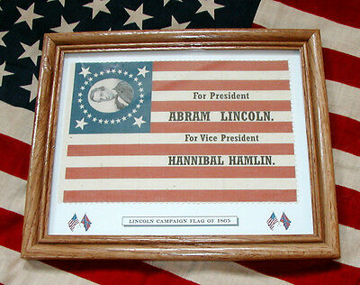 Civil War Flag, 33 Star Abraham Lincoln Campaign Flag
