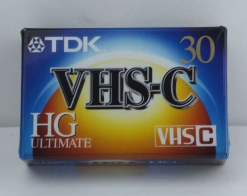 TDK VHS-C Video Camcorder Tape Ultimate High Grade 30 Minutes NEW