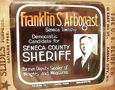 Antique Franklin Arbogast For Seneca County / Tiffin Oh Ohio Magic Lantern Slide