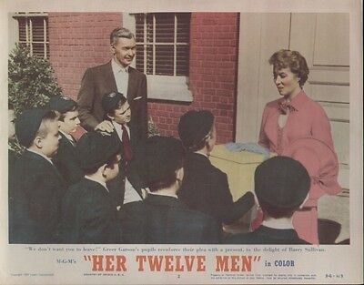 Her Twelve Men 11x14 Lobby Card #2