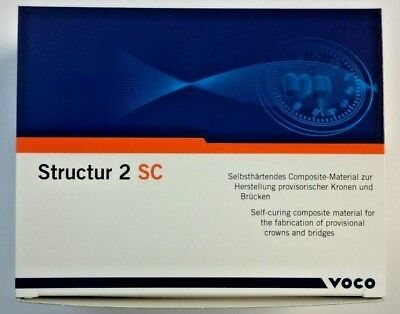 Voco Structur A2 Dental Self Cure Temporary Crown Bridge Material Exp 52020