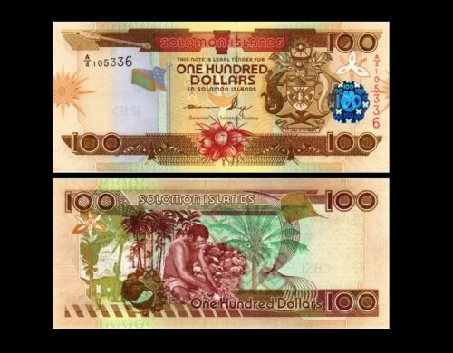 SOLOMON ISLANDS 100 DOLLARS 2009  P 30  UNC