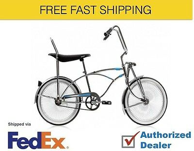 """20/"""" Lowrider Bike Cruiser with 72 spokes Bent Fork color GN BK BL RD Bud Ch PP"""