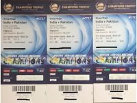 3 x India v Pakistan tickets for sale