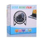 USB Fan Metal 4 Portable Cooling Desk Mini Fan