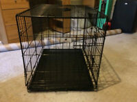 Dog cage folding with slow feed stainless steel bowl & 25 trainin pads
