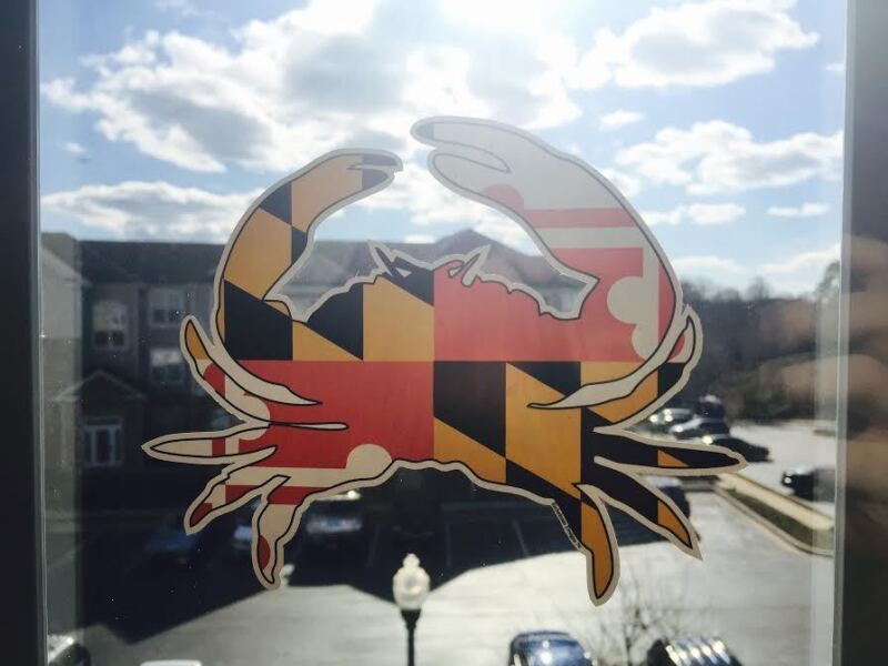 "Maryland Crab Decal Sticker 6"" x 5"" Buy 2 Get 1 Free :) Donation to CBF!"