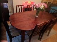 Mahogany Oval Dining Table