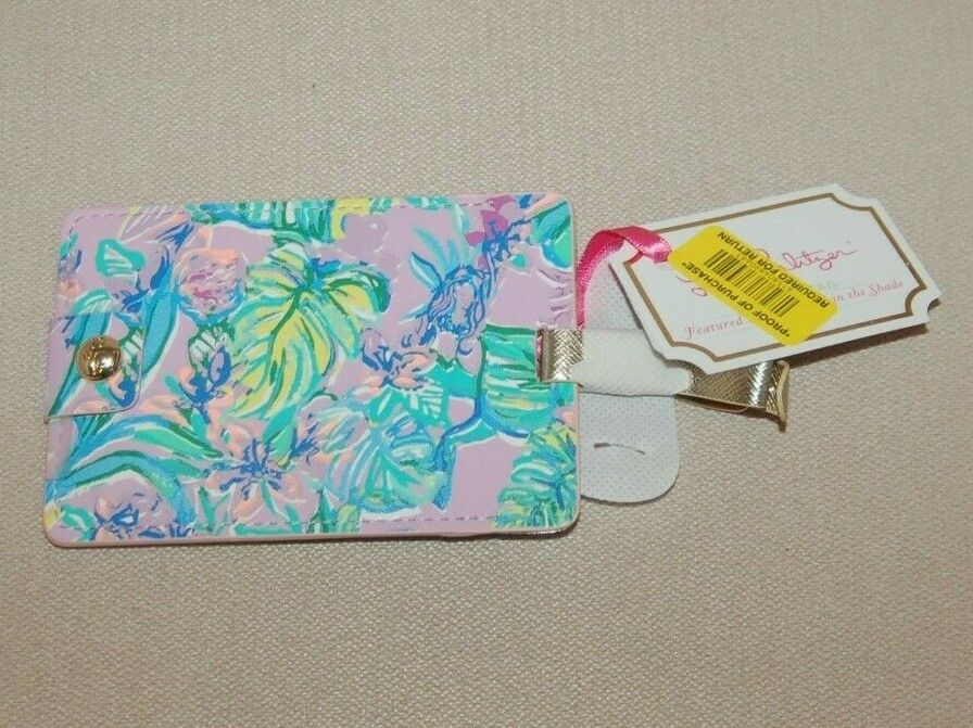 NWT Lilly Pulitzer Luggage Tag Mermaid In The Shade Paradis Bound Purple Blue - $9.99
