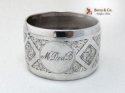 Dutch Engraved Napkin Ring 833 Standard Silver 1890