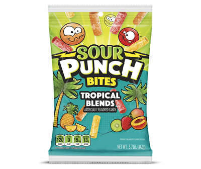 SOUR PUNCH BITES Tropical Blends Flavors Chewy Gummi Candy - FREE SHIPPING
