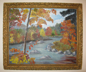 Vintage Nova Scotia Oil Painting - Singed H.S.