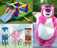 Location Jeux Gonflables Mascottes Machines Barbe a Papa Popcorn