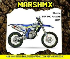 Sherco SEF 300 Factory 2021 Model - Nil Deposit Finance Available from 202/Mth