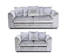 🍀Brand New 🇬🇧 Sofa Crushed Velvet Sofa 3+2 or corner