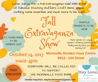 Fall Extravaganza Show - 10am-4pm - Oct 14,2017