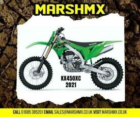 Kawasaki KX 450 XC (Cross Country) 2021 Model - Nil Deposit Finance from 178/M