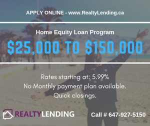 85% LTV mortgages, private mortgages, quick closings. call today