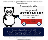 Cloverdale Kids Swap Meet June  3 - 2017