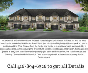 ANCASTER - BRAND NEW TOWN HOMES