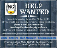 Staff Needed to start new restaurant in South Cooking Lake