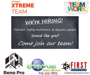 Enviropure First Response Xtreme Team is HIRING