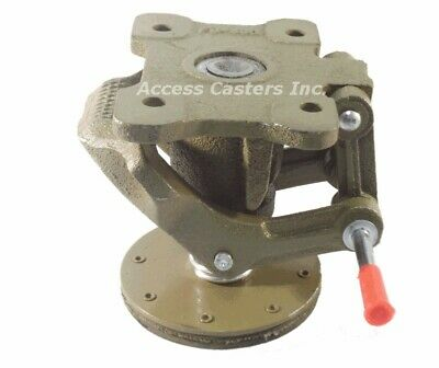Ac-2728 6 Cast Iron Floor Lock Foot Operated 4-12 X 6 Top Plate