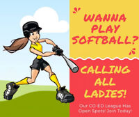 CO-ED Softball League Is Looking For Ladies!
