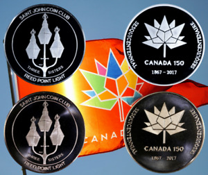 Three Sisters Canada 150 Medal issued by Saint John Coin Club
