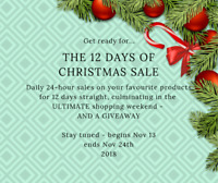 12 Days of Christmas Daily Deals at Kniterary