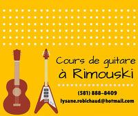 Cours de guitare à Rimouski (débutants ou intermédiaires)