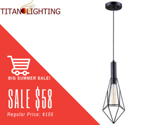 HUGE PENDANT LIGHT SALE/UNBEATABLE PRICES ONLY @ TITAN LIGHTING!