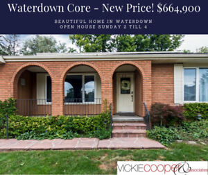 Waterdown House for Sale-Open House Sun 2 to 4