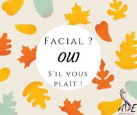 facial et maquillage à 25$ WOW!!!