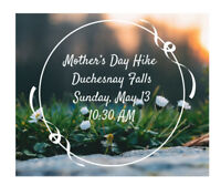 FREE HIKING EVENT- mother's day hike at Duchesnay Falls