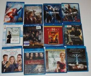 DVD et BLU-RAY, LOT de 92 FILMS et SÉRIES