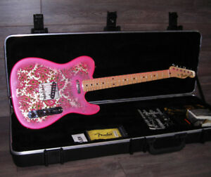 MIJ Fender '69 Pink Paisley Telecaster with Fender HSC