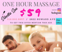 One Hour Massage with certified Massager at Sibella Spa for $59
