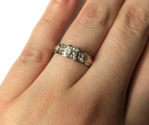 14kt White Gold Engagement Ring size 5.5