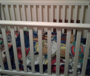 White Convertible Crib and mattress for sale