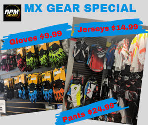 MX Gear, clothes, pants, jerseys, gloves SALE RPM Cycle