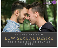 WANTED: Men with Low Desire for PAID ONLINE Study!