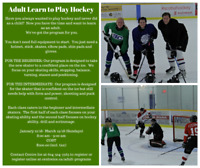 Adult Learn to Play Hockey