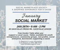 Vendor Market - Jan 26th 9am-2pm  - Free Tables Available