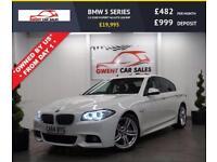 2015 64 BMW 5 SERIES 2.0 520D M SPORT 4D AUTO 188 BHP DIESEL