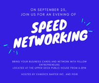 Speed Networking - September 25 at Upper Deck Public House
