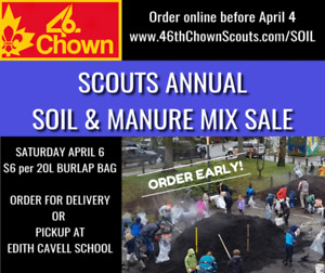 46th Chown Scouts annual Soil & Manure Sale