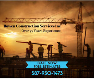 Senior discount & free estimate on renovation Bowen construction