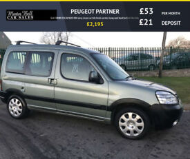 07 Peugeot Partner 1.6HDi 90 Escapade 2 OWNERS FRESH SERVICE VERY CLEAN EXAMPLE